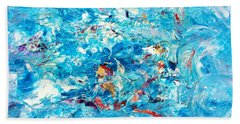 Macroseism Tsunami Beach Towel by Roberto Prusso