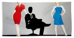 Mad Men In Technicolor Beach Towel