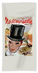 Mademoiselle Cover Featuring A Female Equestrian Beach Towel