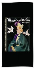 Mademoiselle Cover Featuring A Model In A Green Beach Towel