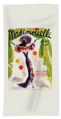 Mademoiselle Cover Featuring A Model Wearing Beach Towel