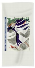 Mademoiselle Cover Featuring A Model With A Dog Beach Towel