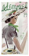 Mademoiselle Cover Featuring A Woman Holding Beach Towel