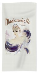 Mademoiselle Cover Featuring A Woman In A Gown Beach Towel