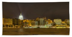 Madison - Wisconsin City  Panorama - No Fireworks Beach Towel