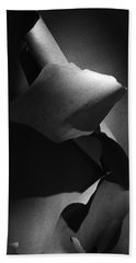 Madrona Bark Black And White Beach Sheet