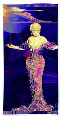 Mae West. Ladies Embrace Your Curves Beach Towel