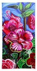Magenta Fleur Symphonic Zoo I Beach Sheet