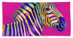 Magenta Zebra Beach Sheet by Jane Schnetlage