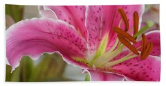 Magenta Tiger Lily Beach Towel