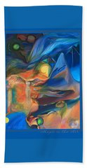 Beach Towel featuring the painting Magic In The Air - With Border And Title by Brooks Garten Hauschild