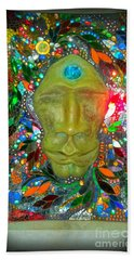 Beach Towel featuring the photograph Magic Mirror In Lomoish by Kelly Awad