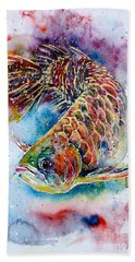 Magic Of Arowana Beach Towel by Zaira Dzhaubaeva