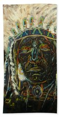 Magic Powers,  Native American Indian Chief Beach Towel
