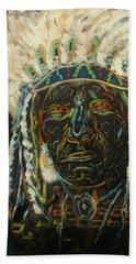 Magic Powers,  Native American Indian Chief Beach Sheet