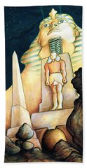 Magic Vegas Sphinx - Fantasy Art Painting Beach Towel
