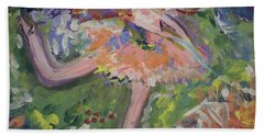 Beach Sheet featuring the painting Magical Maggie The Fairy by Judith Desrosiers