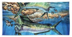Magical Mahi Mahi Sargassum Beach Towel