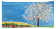 Magical Wish Tree Beach Towel by Sonali Gangane