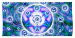Beach Towel featuring the drawing Magnetic Fluid Harmony by Derek Gedney