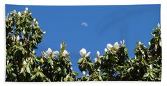 Beach Sheet featuring the photograph Magnolia Moon by Meghan at FireBonnet Art