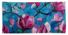 Magnolias For Ever Beach Towel