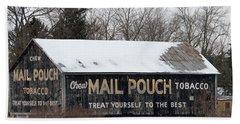 Mail Pouch Tobacco Barn Beach Sheet