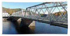 Main Street Bridge Shelbourne Falls  Beach Towel