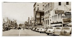 Main Street Salinas California 1941 Beach Sheet by California Views Mr Pat Hathaway Archives