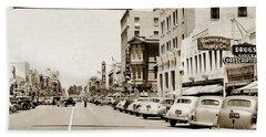 Main Street Salinas California 1941 Beach Towel