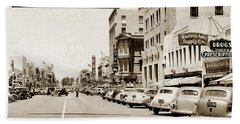 Main Street Salinas California 1941 Beach Towel
