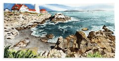 Maine Attraction Beach Sheet by Barbara Jewell