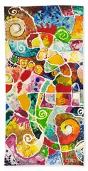 Maize Beach Towel by Sally Trace