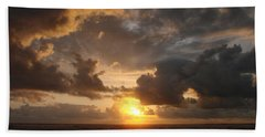 Beach Towel featuring the photograph Majestic Sunset by Athena Mckinzie
