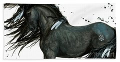 Majestic Friesian Horse 112 Beach Towel