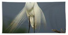 Majestic Great Egret Beach Towel