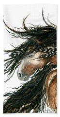 Majestic Pinto Horse 80 Beach Sheet by AmyLyn Bihrle
