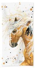 Majestic Palomino Horse 84 Beach Towel