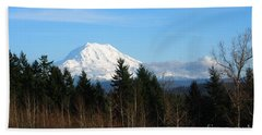Majestic Mount Rainier Beach Sheet