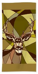Majestic Mule Deer Buck Beach Sheet
