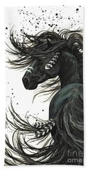 Majestic Spirit Horse 65 Beach Towel by AmyLyn Bihrle
