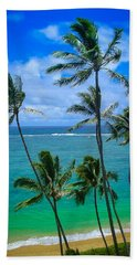 Majestic Palm Trees Beach Sheet