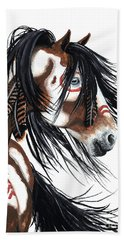 Majestic Pinto Horse Beach Sheet by AmyLyn Bihrle