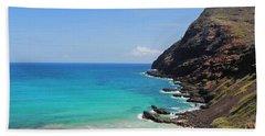 Beach Towel featuring the photograph Makapu'u Beach  by Kristine Merc