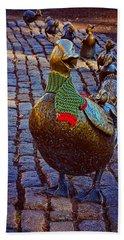 Make Way For Ducklings Beach Towel