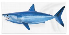 Mako Shark Beach Towel by Carey Chen
