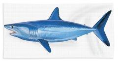 Mako Shark Beach Sheet by Carey Chen