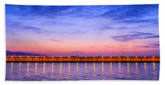 Beach Sheet featuring the photograph Malaga Pink And Blue Sunrise  by Debra Martz