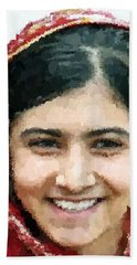 Malala Yousafzai Portrait Beach Sheet