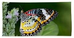Malay Lacewing Butterfly Beach Towel